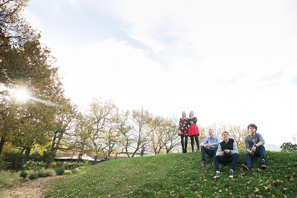 Family Photo On A Hill