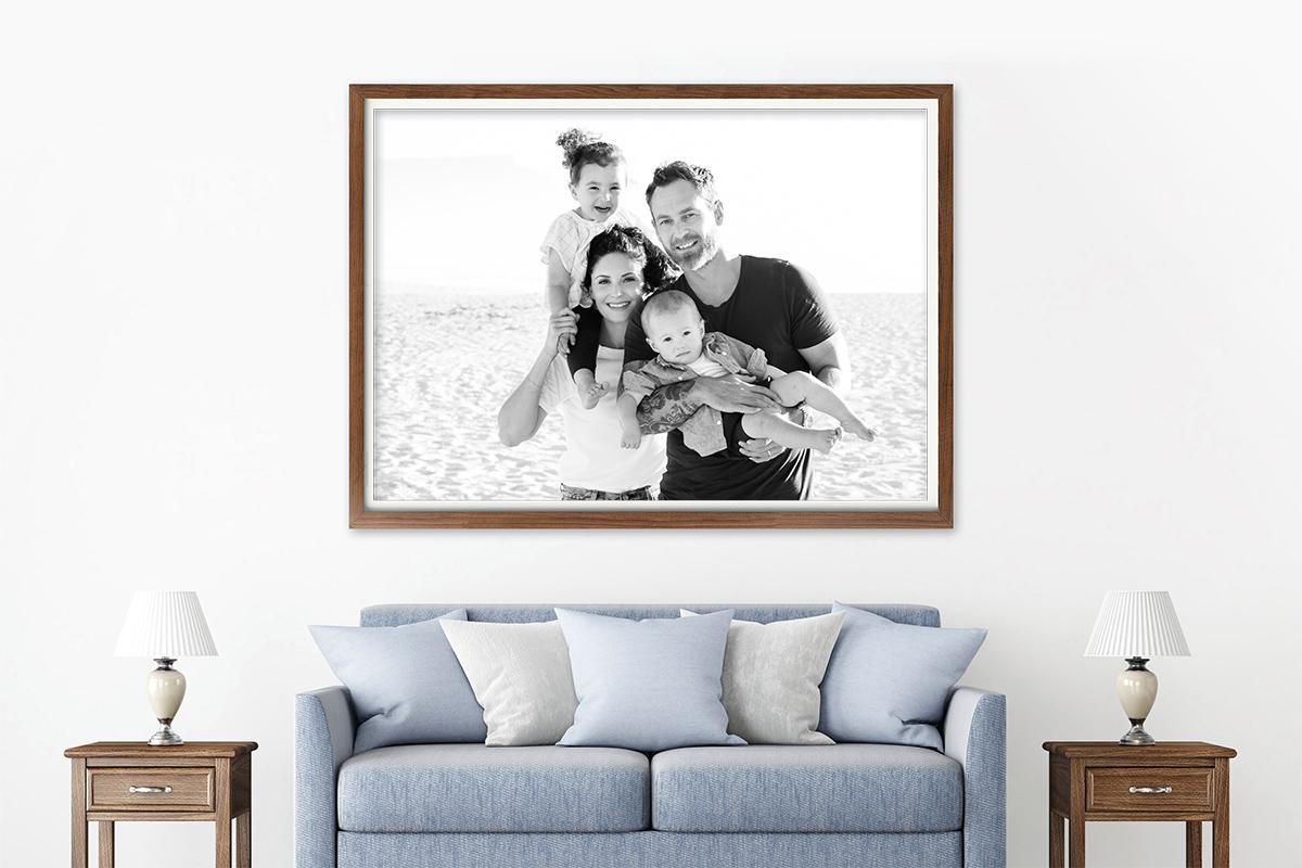 framed photo of a family