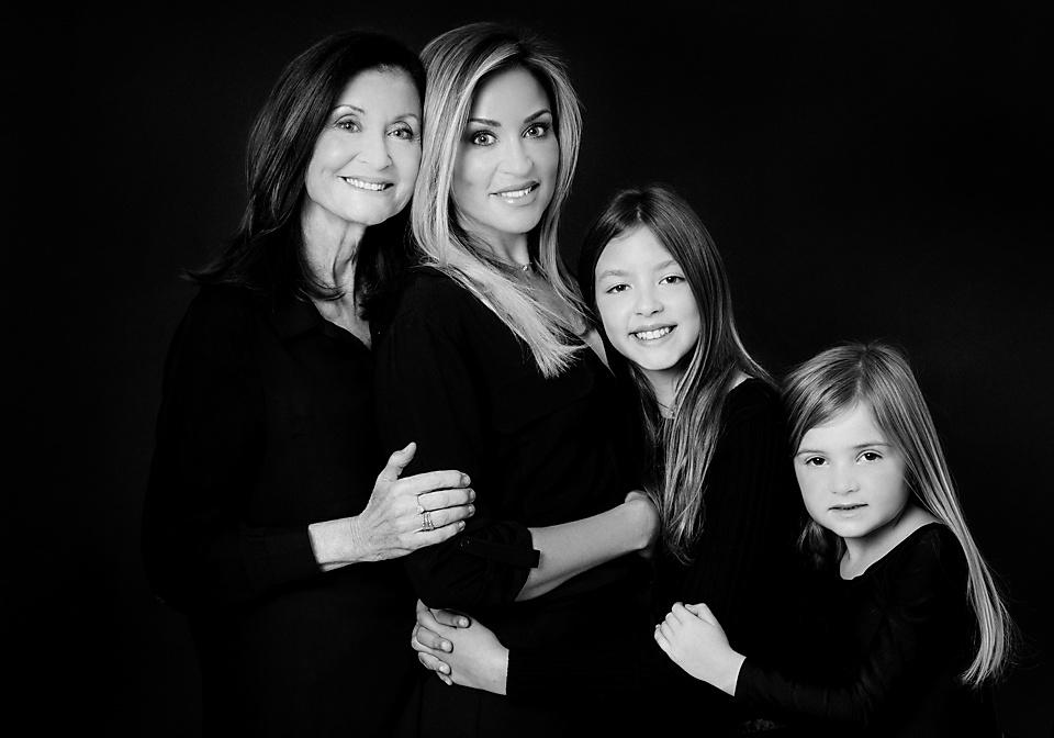 black and white portrait generations portrait in studio