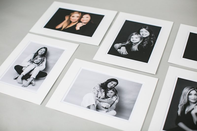 Black And White Printed And Matted Family Photos