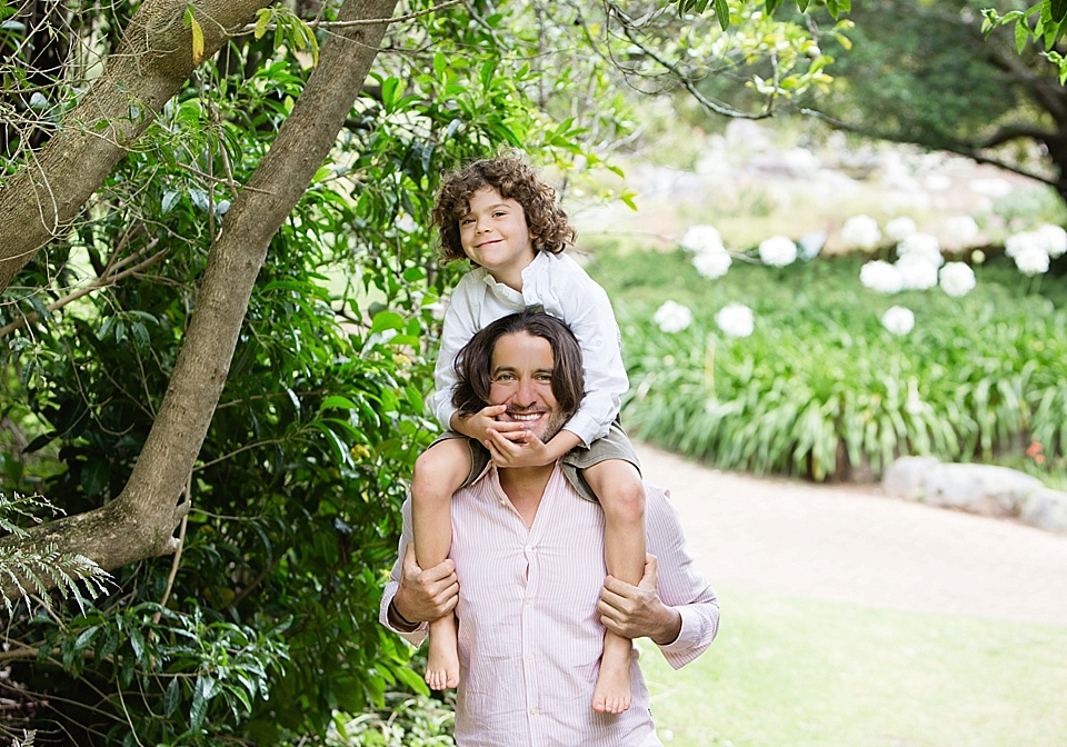 father and son outdoors portrait
